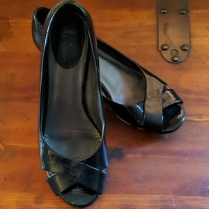 Cole Haan patent leather wedges